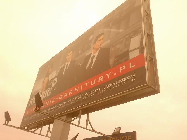 dwustronna reklama banerowa