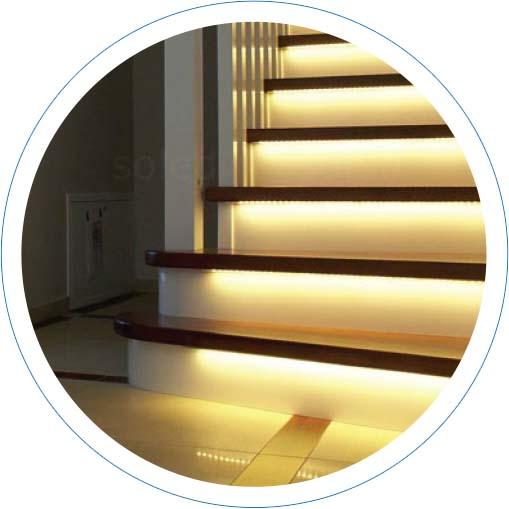 Profil aluminiowy do podświetlenia schodów